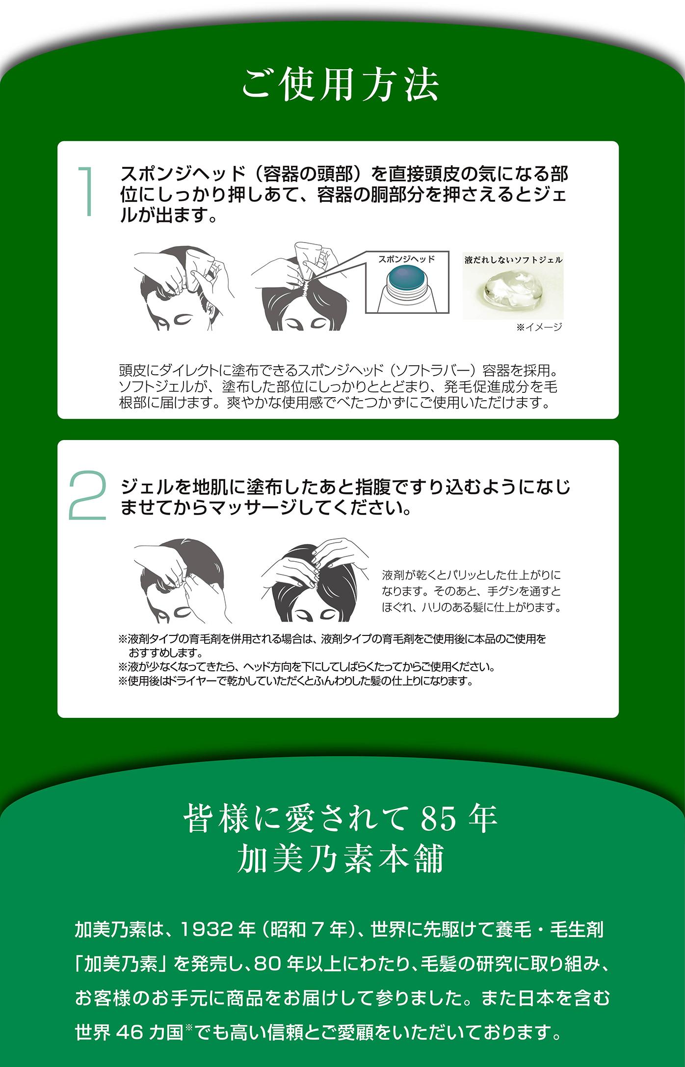 薬用発毛促進剤MOF・MOF<もふもふ>ご使用方法